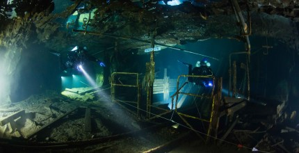 Mine diving course, Sweden